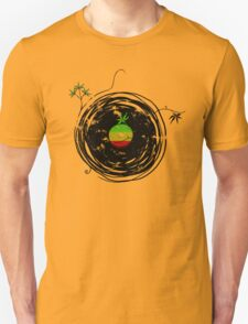 Reggae Music Peace - Vinyl Records Weed Cannabis - Cool Retro Music DJ inspired design Unisex T-Shirt
