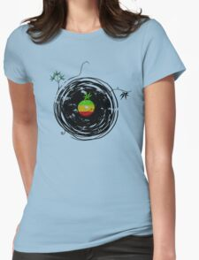 Reggae Music Peace - Vinyl Records Weed Cannabis - Cool Retro Music DJ inspired design Womens Fitted T-Shirt