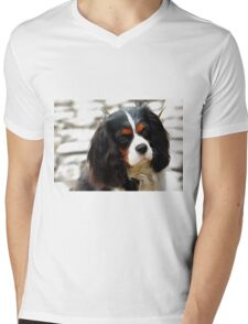 Portrait Of A King Charles Cavalier Spaniel Mens V-Neck T-Shirt
