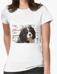 Portrait Of A King Charles Cavalier Spaniel Womens Fitted T-Shirt
