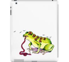 The all-seeing flaccid falling frog iPad Case/Skin