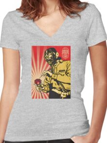 Banksy Toxic Waste Women's Fitted V-Neck T-Shirt
