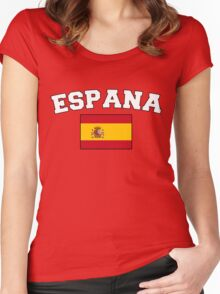 Espana Spain Supporters Women's Fitted Scoop T-Shirt