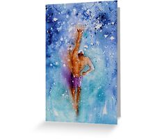 The Art Of Freestyle Swimming Greeting Card