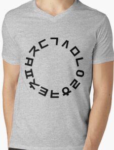 Korean Alphabet Hangul Consonants Mens V-Neck T-Shirt
