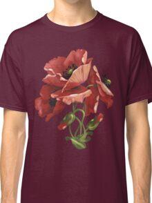 Poppy flowers - acrylic painting Classic T-Shirt