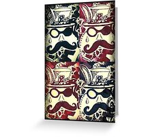 Steampunk Faces  Greeting Card