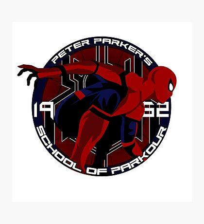 Spider Man - Peter Parker's School of Parkour Photographic Print