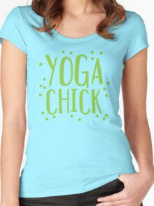 YOGA CHICK Women's Fitted Scoop T-Shirt