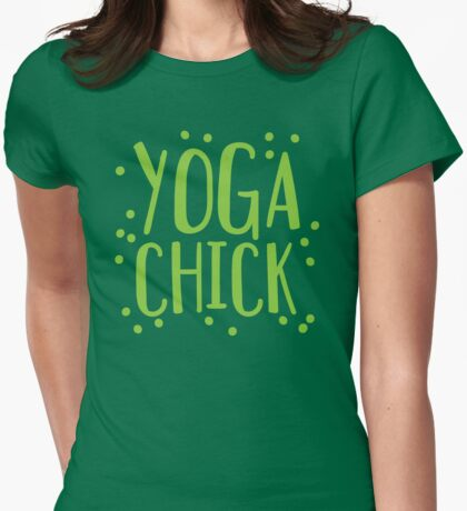 YOGA CHICK Womens Fitted T-Shirt