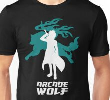 Arcade Wolf Inverted ( for Black Background ) Unisex T-Shirt