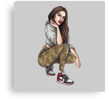 Camo Girl Canvas Print