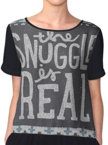 the SNUGGLE is REAL Chiffon Top