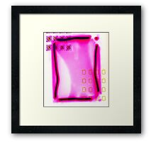 Abstract Pink Bloc ~ Larger Framed Print