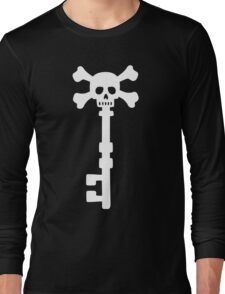 Vintage Skull Key to the Pirate Treasure Chest - White Long Sleeve T-Shirt