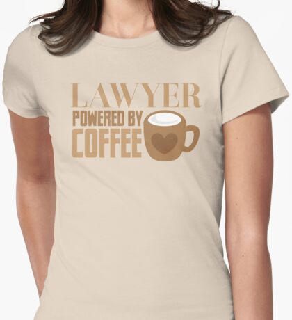 LAWYER powered by coffee Womens Fitted T-Shirt