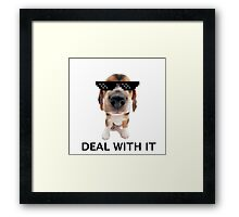 Deal with it pup Framed Print