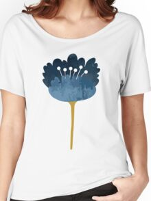 Watercolor Abstract Flowers Women's Relaxed Fit T-Shirt