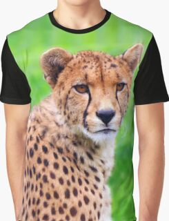 The Depth Within a Cheetah's Eyes Graphic T-Shirt