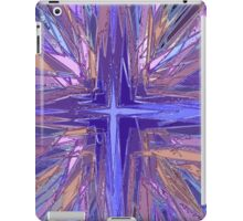 Purple religious cross illustration iPad Case/Skin