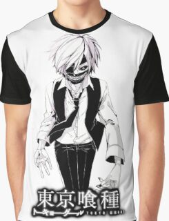 kaneki black and white tokyo ghoul Graphic T-Shirt