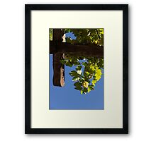 Harvest in the Sky - a Vertical View Framed Print