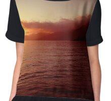 red sunset  Chiffon Top