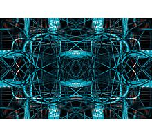 Abstract futuristic tangled pattern Photographic Print