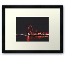 London Eye at night. Framed Print