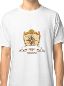 Compass Navigator Map Coat of Arms Crest Retro Classic T-Shirt
