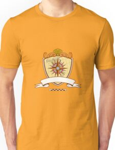 Compass Navigator Map Coat of Arms Crest Retro Unisex T-Shirt