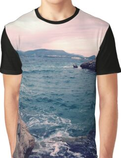 pink waves Graphic T-Shirt