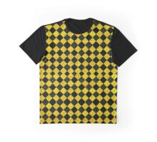 Black and yellow chequered pattern Graphic T-Shirt