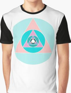 Triangle Circle Graphic T-Shirt
