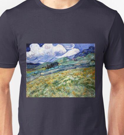 Vincent van Gogh Landscape from Saint-Remy Unisex T-Shirt