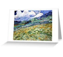 Vincent van Gogh Landscape from Saint-Remy Greeting Card