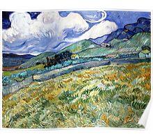 Vincent van Gogh Landscape from Saint-Remy Poster