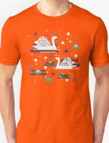 Swans on Stars  T-Shirt