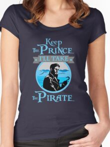 Captain Hook. OUAT. Keep The Prince, I'll Take The Pirate. Women's Fitted Scoop T-Shirt