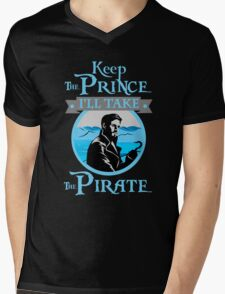 Captain Hook. OUAT. Keep The Prince, I'll Take The Pirate. Mens V-Neck T-Shirt