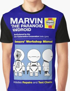 Haynes Manual - Marvin the Paranoid Android - T-shirt Graphic T-Shirt