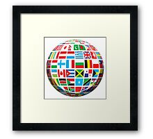 World, Flags of the Globe, Flags, Globe, Peace Framed Print