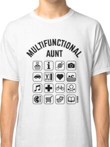 Multifunctional Aunt (16 Icons) Classic T-Shirt