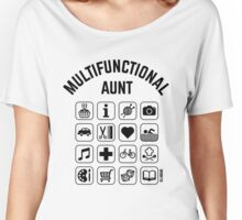 Multifunctional Aunt (16 Icons) Women's Relaxed Fit T-Shirt