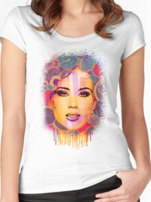 Mimicry, face Women's Fitted Scoop T-Shirt