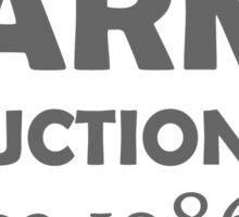 Harm reduction 1986 Sticker