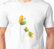Abstract Flowers Unisex T-Shirt