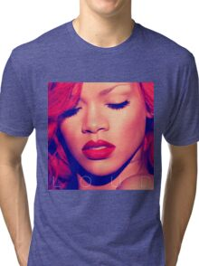rihanna red loud kutai Tri-blend T-Shirt