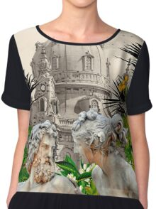 LOVE WITHOUT BARRIERS Chiffon Top