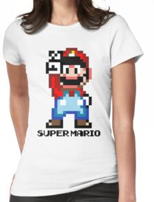 Super Mario 16 bit Victory Pose Womens Fitted T-Shirt